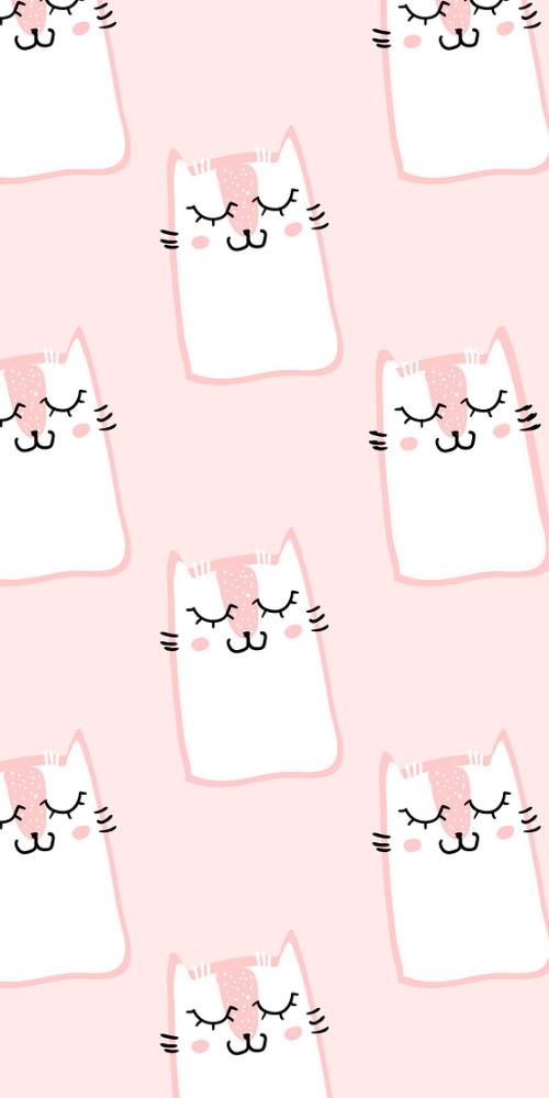 可愛粉色少女手機殼
