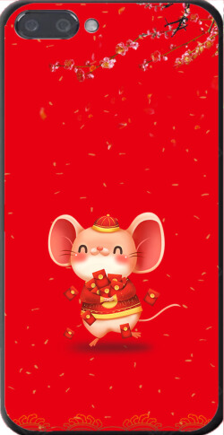 红色小老鼠喜庆红包手机壳印刷图片
