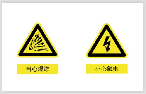 當心爆炸小心觸電警示不干膠