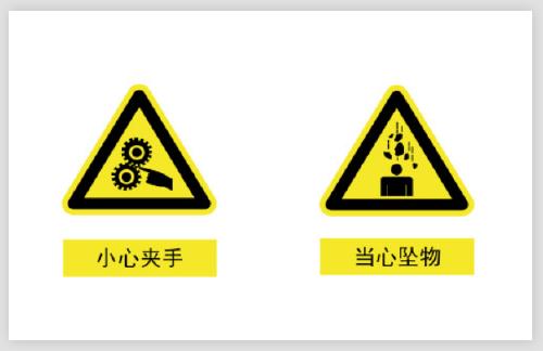 小心夾手當心墜物警示不干膠