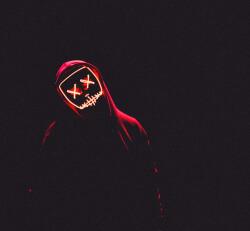 红色荧光简约朋友圈背景