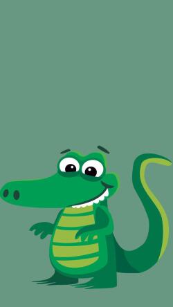 绿色卡通可爱恐龙壁纸