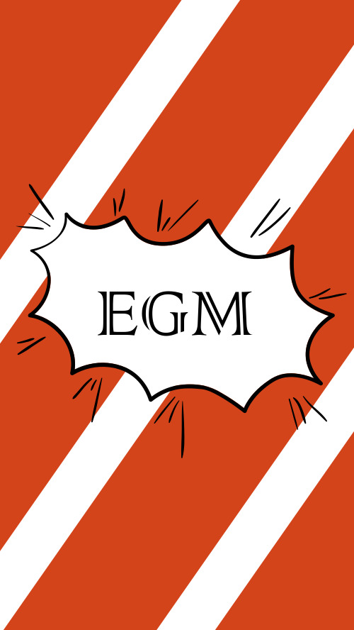 紅白簡約EGM手機鎖屏海報
