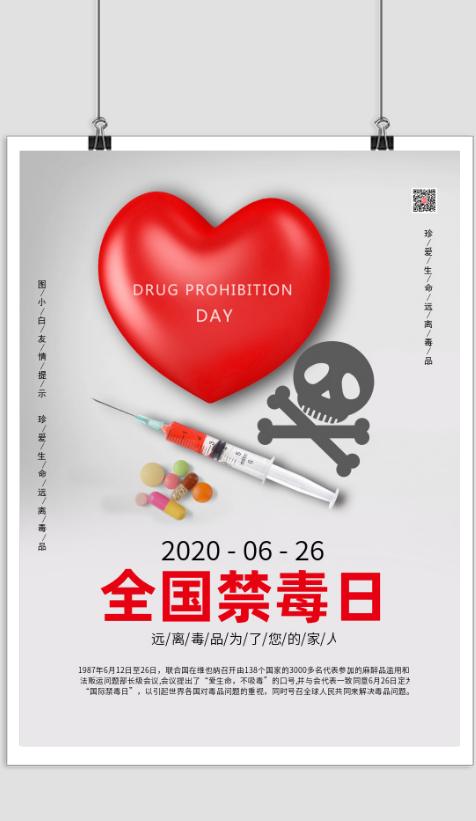 全国禁毒日宣传海报