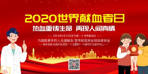 2020世界献血者日宣传展板