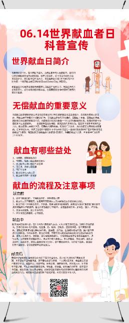 世界献血者日科普宣传展架