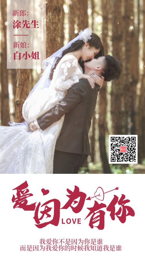 图文摄影婚礼背景婚礼电子邀请函