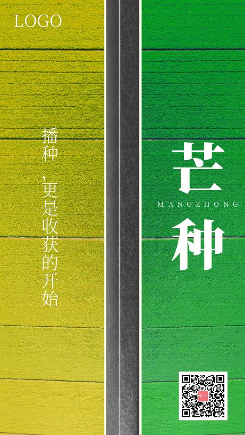 芒种播种更是收货的开始手机创意海报