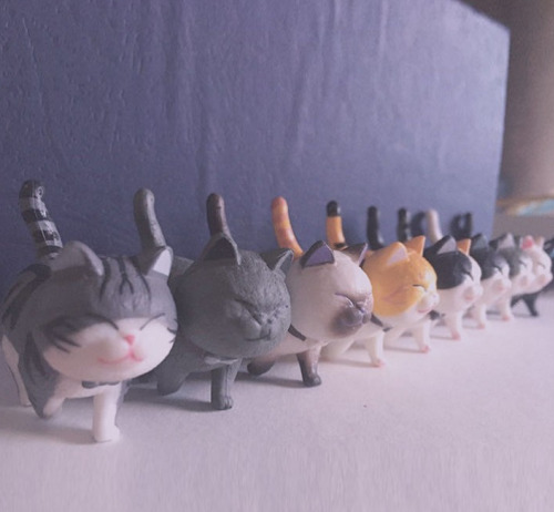 可愛貓咪手辦背景圖