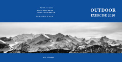 蓝色简约户外运动相册书设计