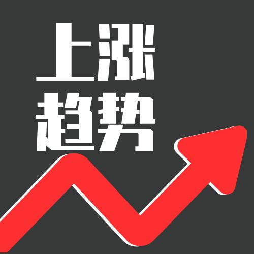 简约图文股市上涨趋势公众号小图