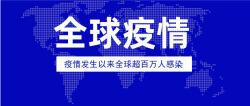 蓝色全球疫情公告公众号封面首图
