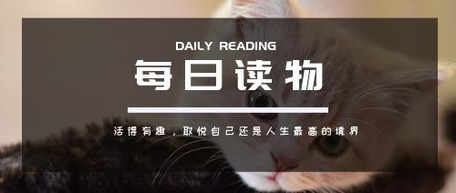 简约大气每日读物公众号首图