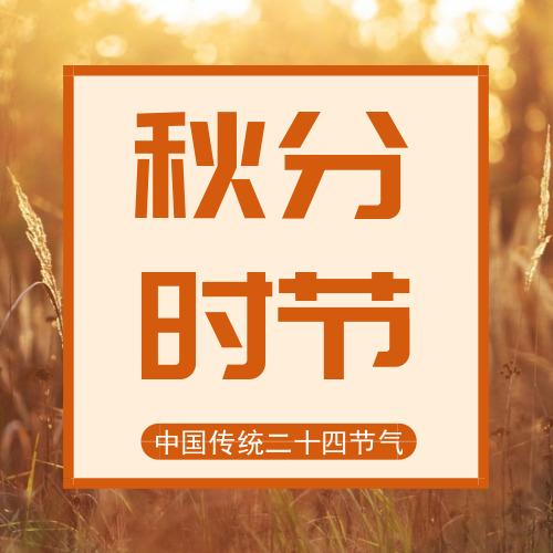 秋色黄昏麦田秋分时节公众号小图