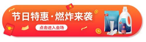 节日特惠胶囊banner