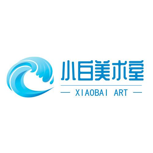 美术室简洁海浪logo设计