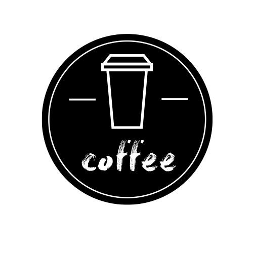 简约创意黑色咖啡LOGO设计