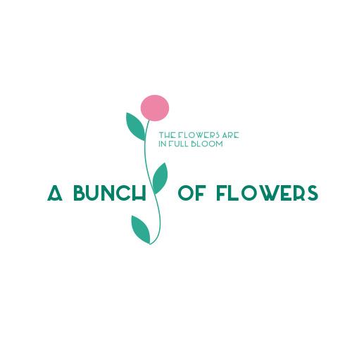 简约时尚鲜花坊logo设计