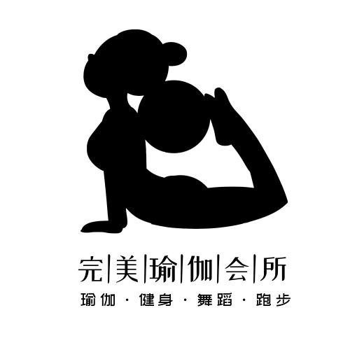 簡約卡通健身瑜伽logo設計