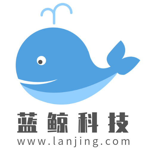 简约蓝鲸科技公司logo设计
