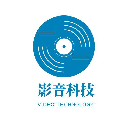 簡約創意影音科技LOGO設計