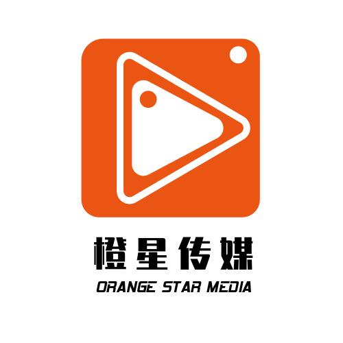 簡約橙色傳媒公司LOGO設計