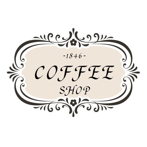 简约咖啡店铺logo