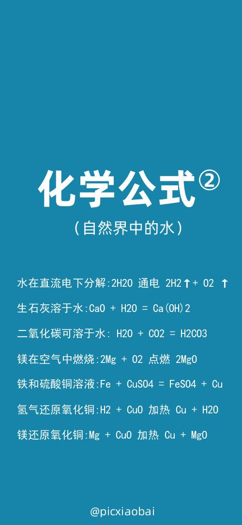 简约蓝色化学公式苹果手机壁纸
