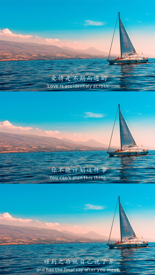 简约大海拼图电影台词手机壁纸