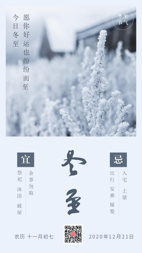 二十四节气冬至节日海报
