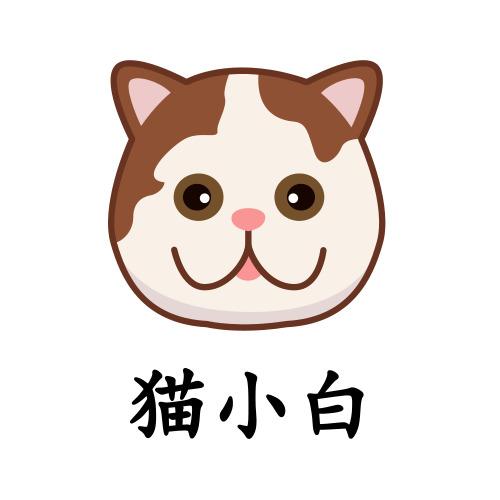 简约插画猫咪宠物logo设计