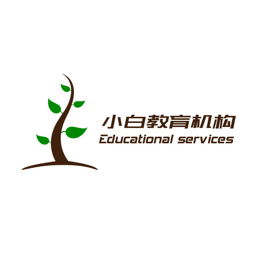 简约教育类机构logo