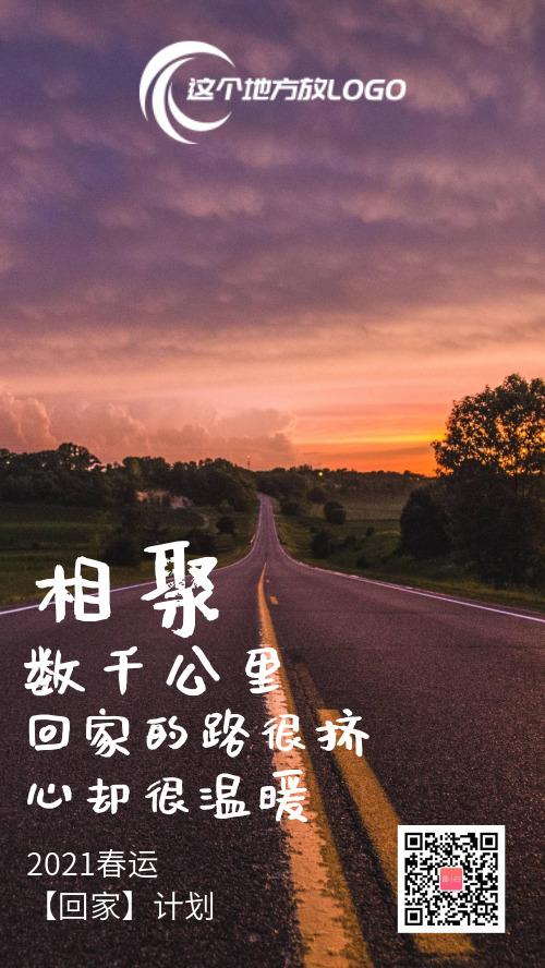 2021春运摄影图回家过年海报