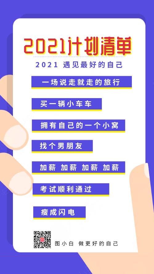 創意2021新年計劃清單