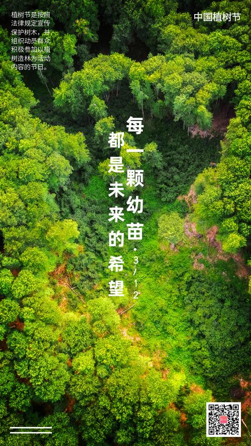 312植树节宣传手机海报
